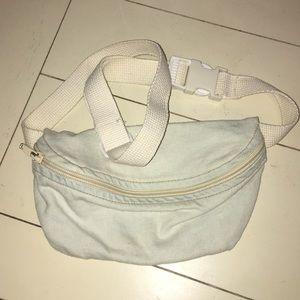 Denim zip and clip bag